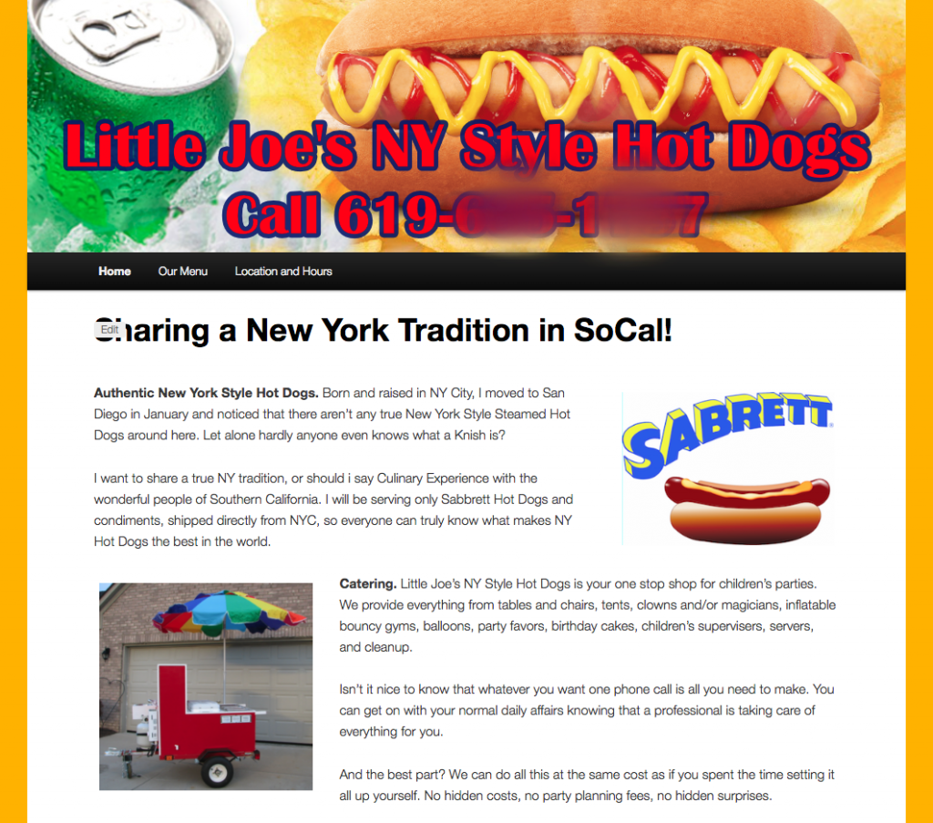 little joes hot dogs website